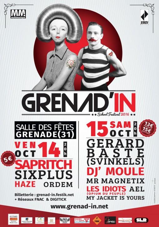 Grenadin 2016 2000 Grenade Ael en concert